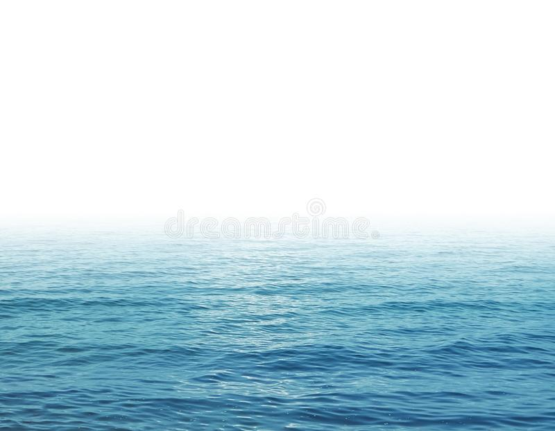 Sea waves and white background royalty free stock image