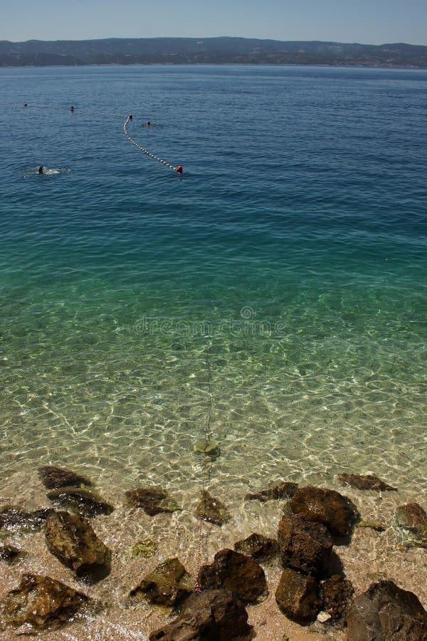 The sea in Omis, Croatia stock photos