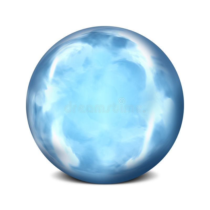 Download Sea Orb stock illustration. Image of sphere, shiny, shine - 5535355