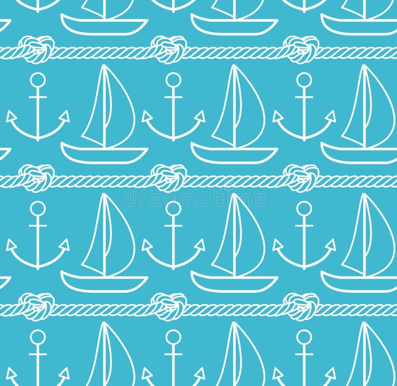 Sea pattern royalty free illustration