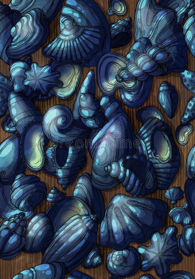 Sea pattern royalty free stock photos