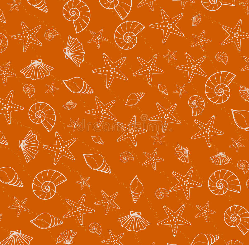 Sea pattern texture from cockleshells royalty free illustration