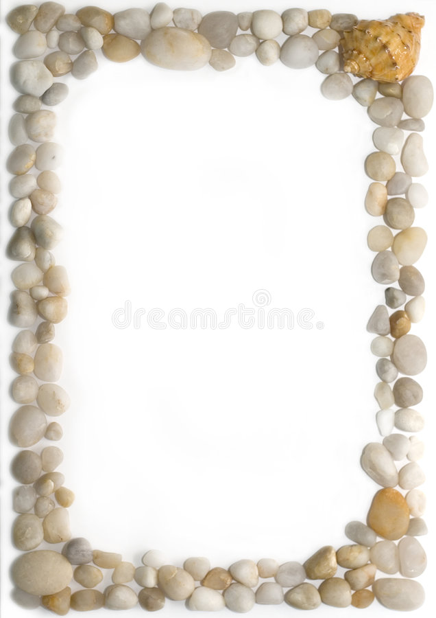Sea pebbles frame stock images