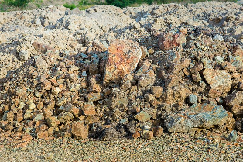 Sea pebbles. Small stones gravel texture background. royalty free stock images