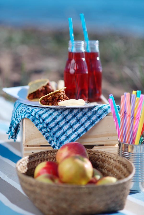Sea picnic royalty free stock photo