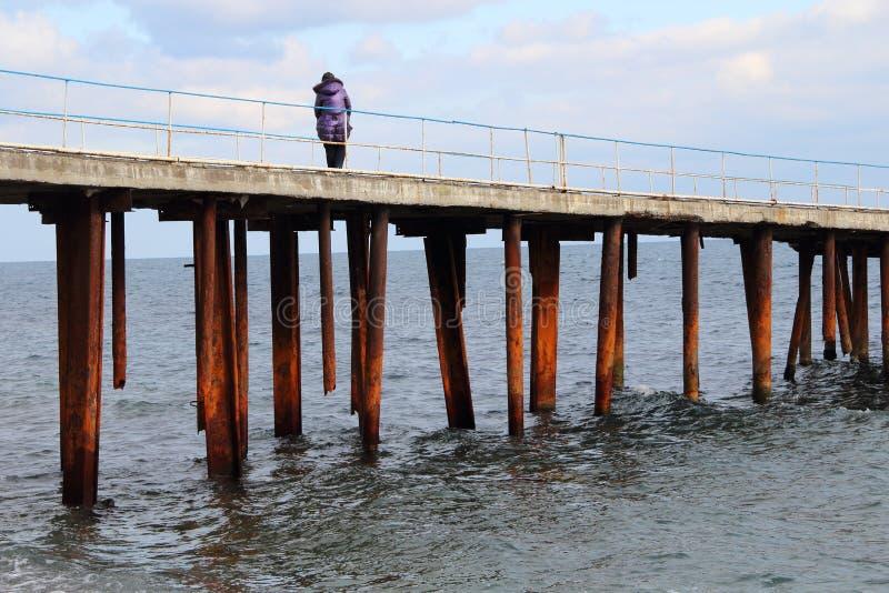 Sea pier royalty free stock photo