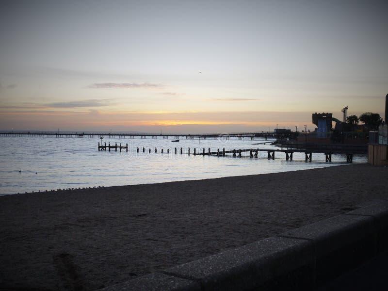 Sea pier stock image