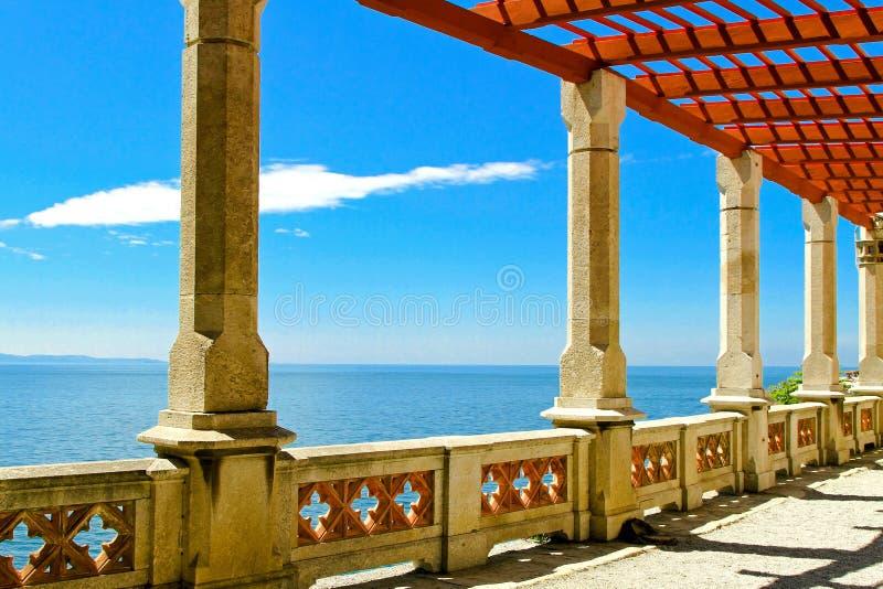 Download Sea pillars stock image. Image of enclose, fence, ocean - 16351465