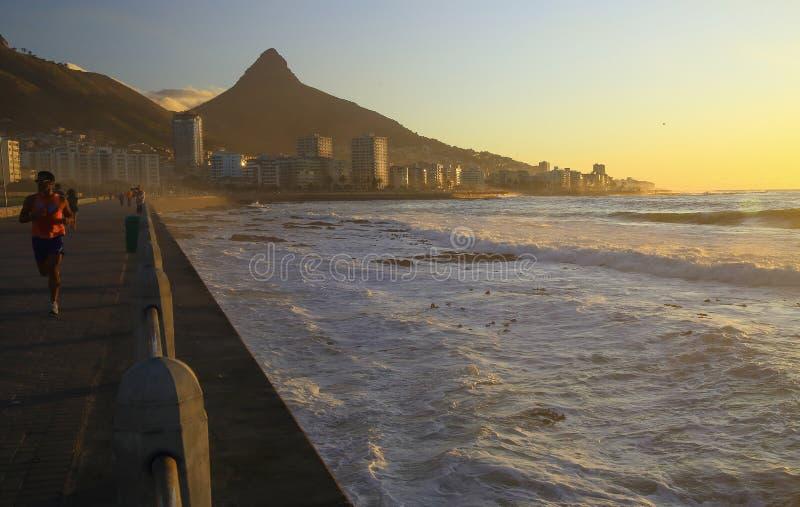Sea Point promenade (II) royalty free stock photos