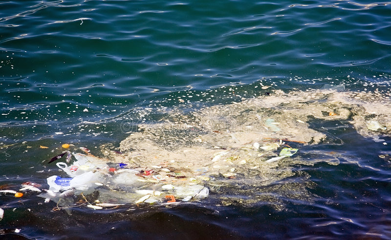 Sea pollution royalty free stock photos