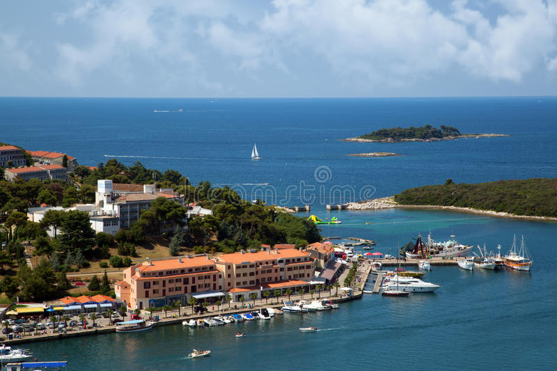 Sea port in city of Vrsar royalty free stock images