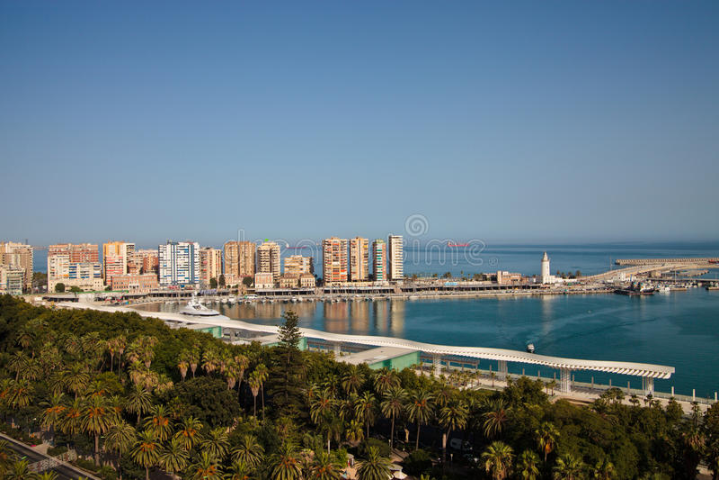 Download Sea port in Malaga stock photo. Image of city, panorama - 20581170