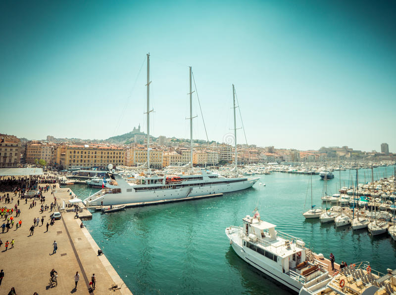 Sea-port of Marseille. The old sea-port of Marseille. France royalty free stock images