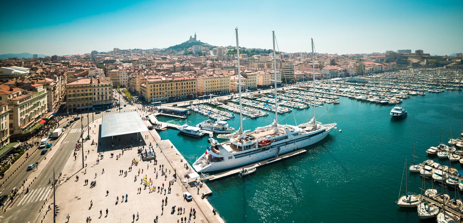 Sea-port of Marseille. The old sea-port of Marseille. France royalty free stock photo
