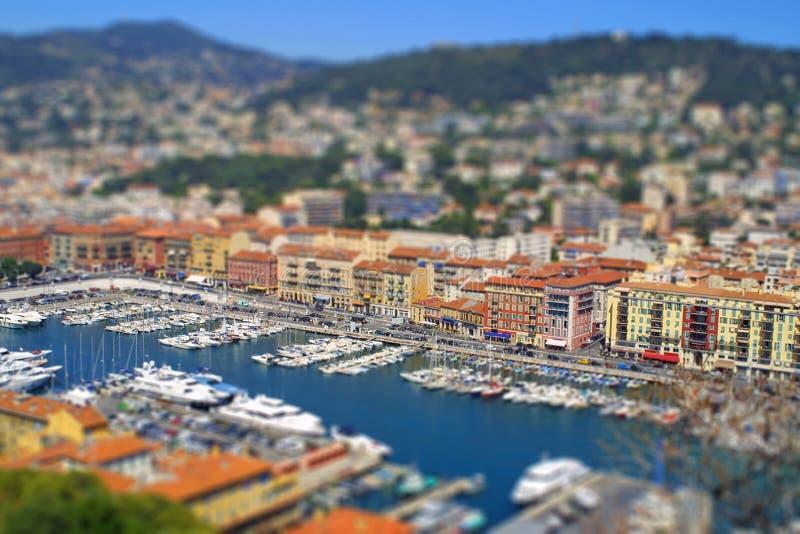 Download Sea Port Of Nice City, France. Tilt-shift Effect Stock Photography - Image: 21574462