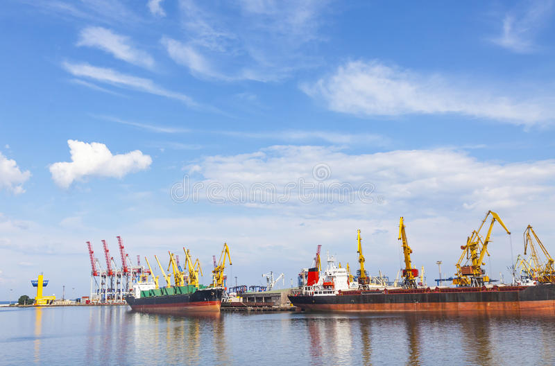 Sea port of Odessa, Black Sea, Ukraine royalty free stock photography