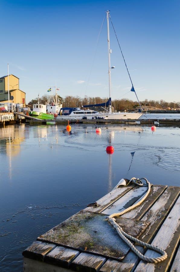 Download Sea port in winter season stock photo. Image of recreation - 28436396