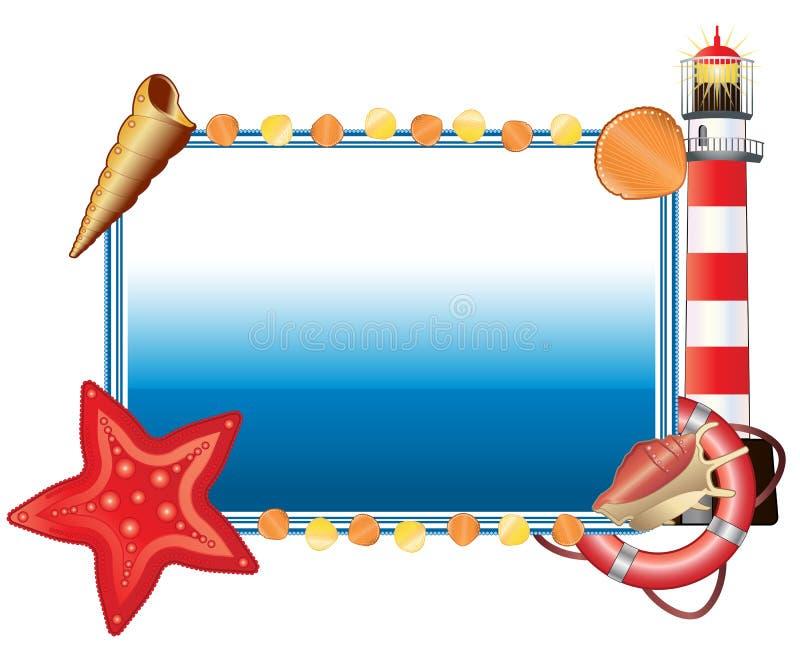 Sea postcard horizontal stock illustration