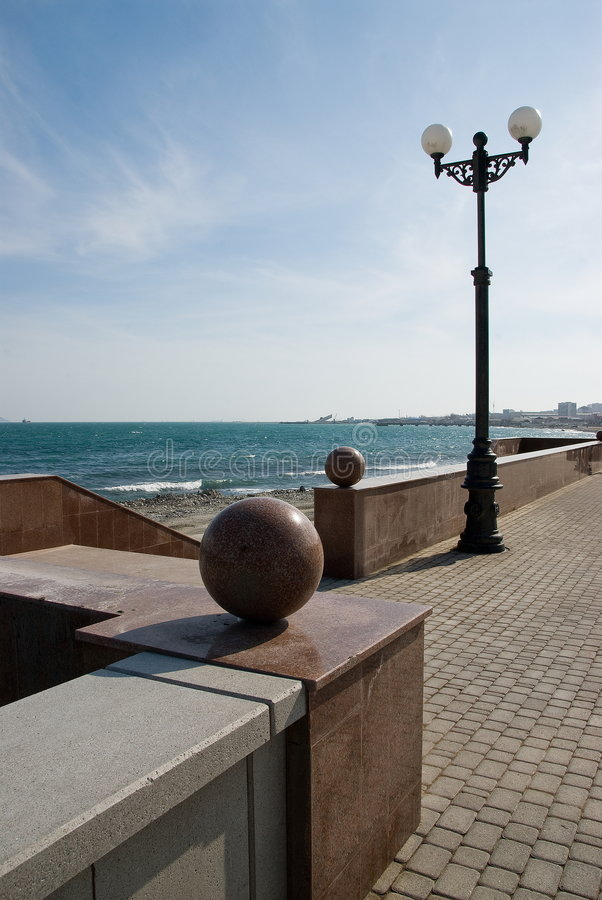 Sea quay. royalty free stock image