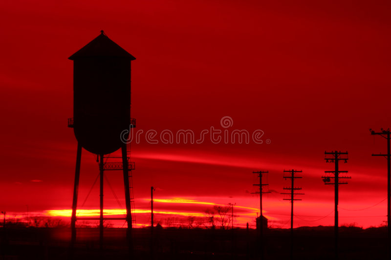 Download Sea of red. stock photo. Image of outdoors, water, dusk, silhouette - 6268