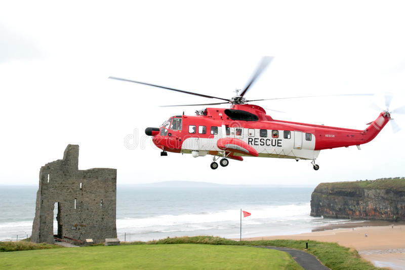Download Sea rescue hovering stock photo. Image of cliffs, castle - 10578142