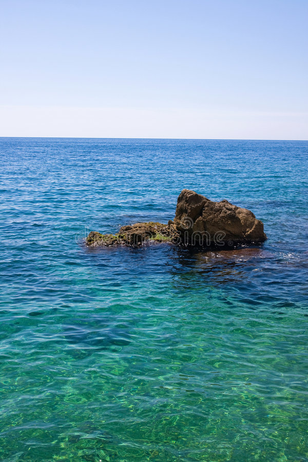 Download Sea and the rock stock photo. Image of crisp, beautiful - 5182242
