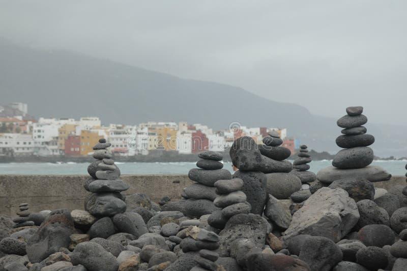 Sea, Rock, Coast, Sky stock images
