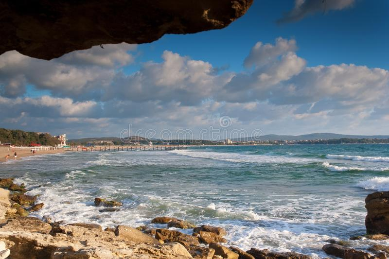 Download Sea and rock frame stock image. Image of nobody, peaceful - 27109289