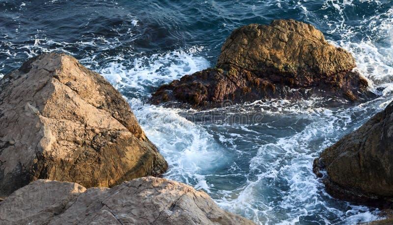 Sea rocks stock images