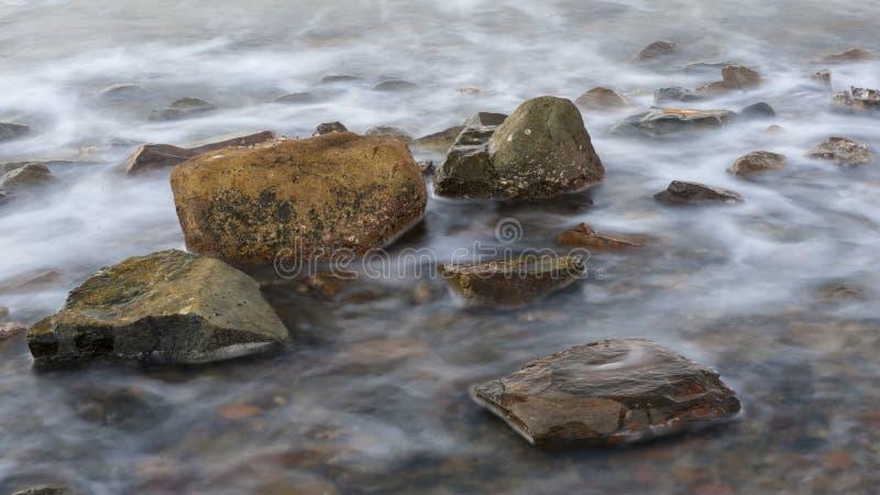 Sea and rocks stock photo