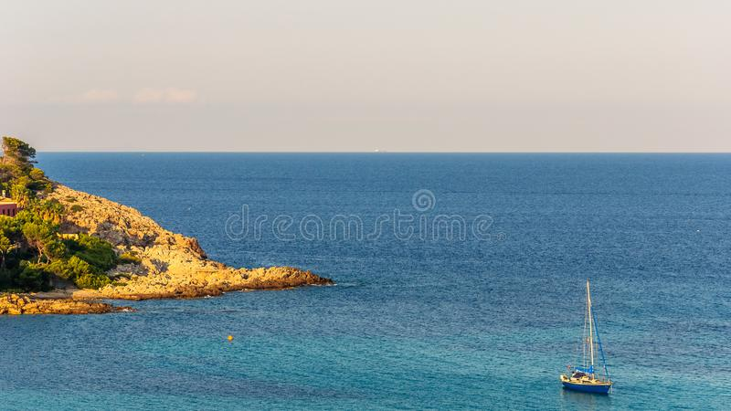 Sea and rocky coast stock images