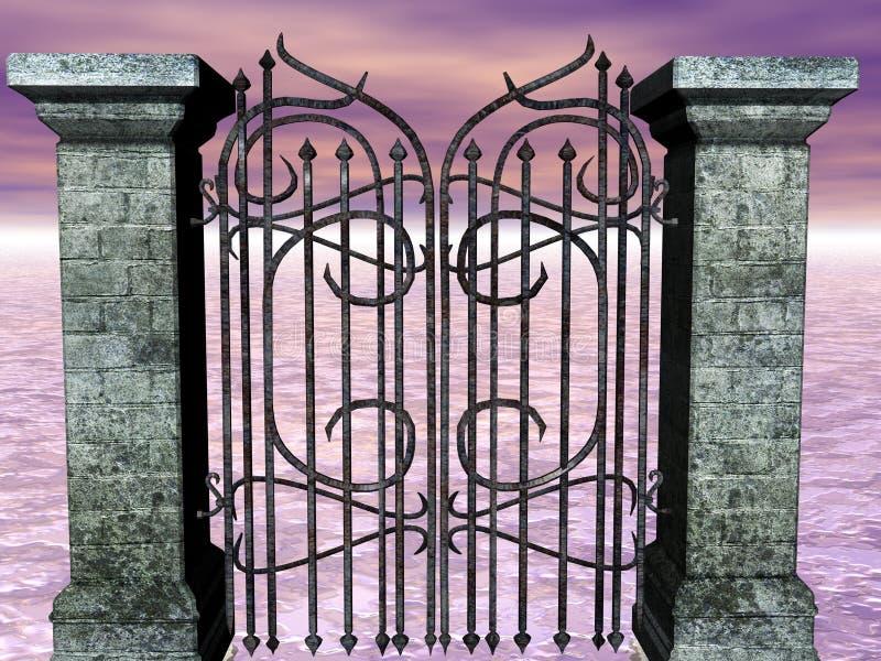 Sea's Gate stock illustration