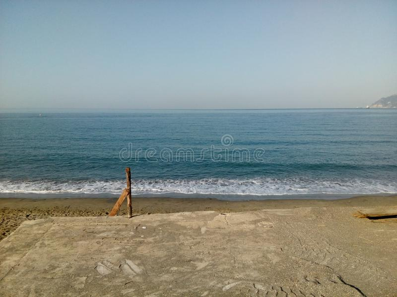 Sea of salerno campagna royalty free stock images