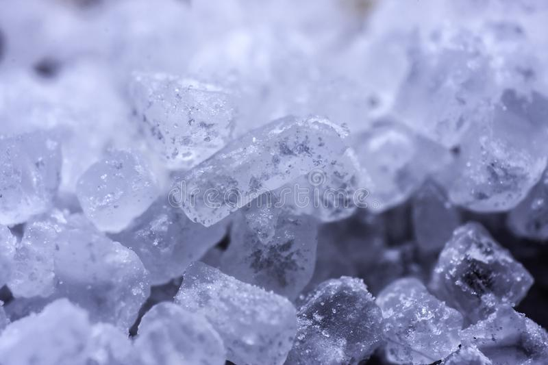Sea salt crystals stock photo