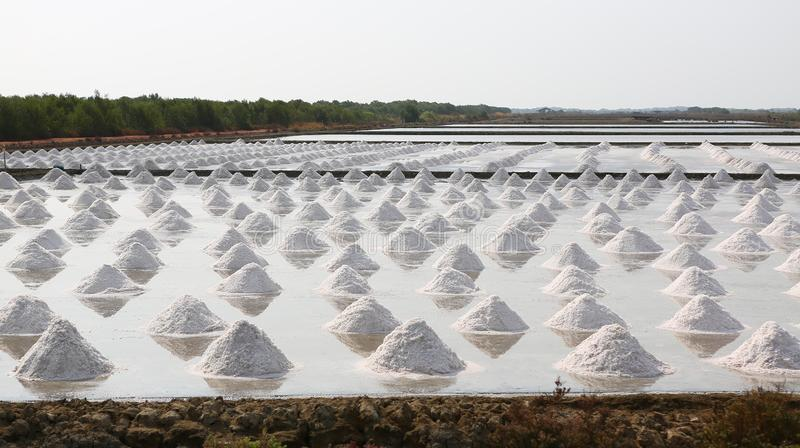 Sea salt farm in Thailand royalty free stock image