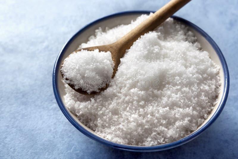 Download Sea Salt Flakes stock photo. Image of spoon, white, nobody - 14854998
