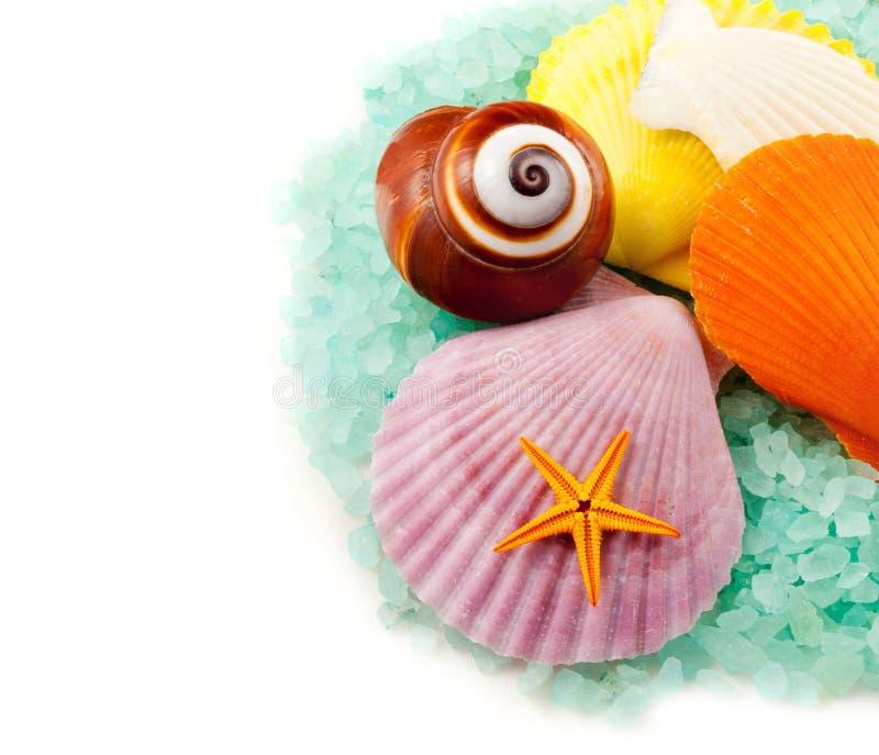 Sea salt granules. stock image