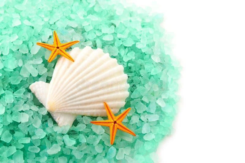 Sea salt granules. stock photography