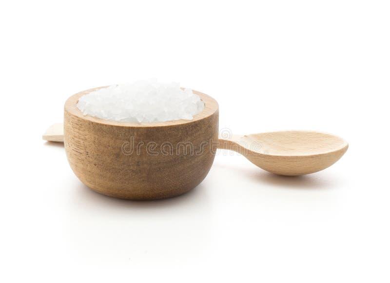 Sea salt isolated stock image