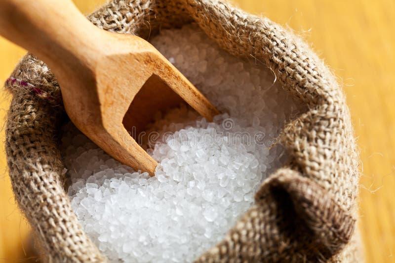 Download Sea salt in jute sack stock photo. Image of natural, edible - 29025024