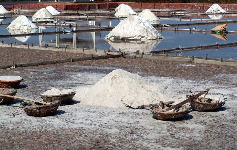 Download Sea Salt Paddies stock photo. Image of blue, taiwan, tools - 19767706