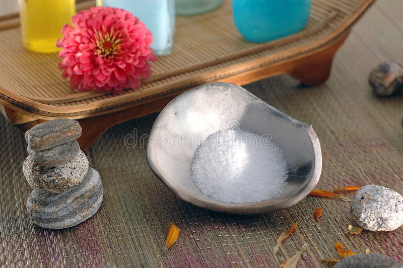 Download Sea Salt Treatment stock photo. Image of beauty, massage - 248564