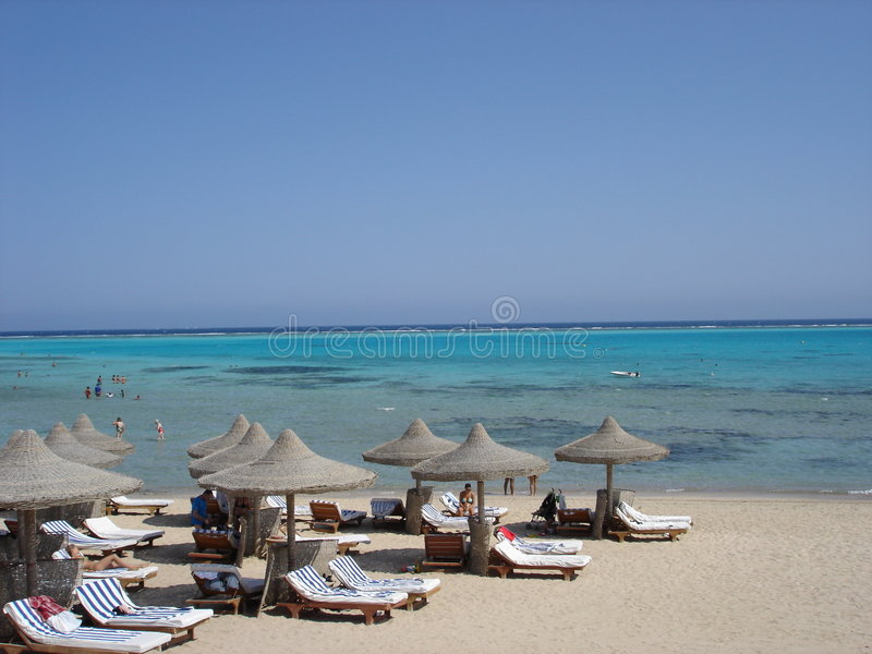 Sea and sand in Red Sea stock image