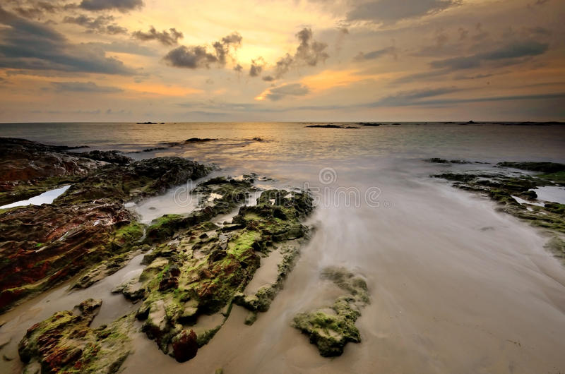 Sea sand sun beach sunset sunrise thailand stone rock beach land