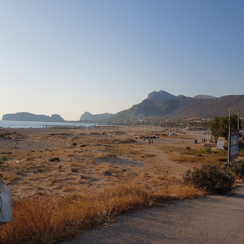 Falasarna beach stock photography