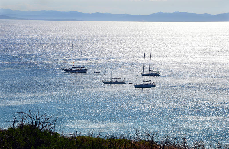Sea of Sardinia, summer vacation in Italy stock image