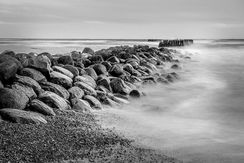 Sea scape with rocks stock photography