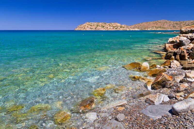 Sea scenery at Spinalonga island on Crete
