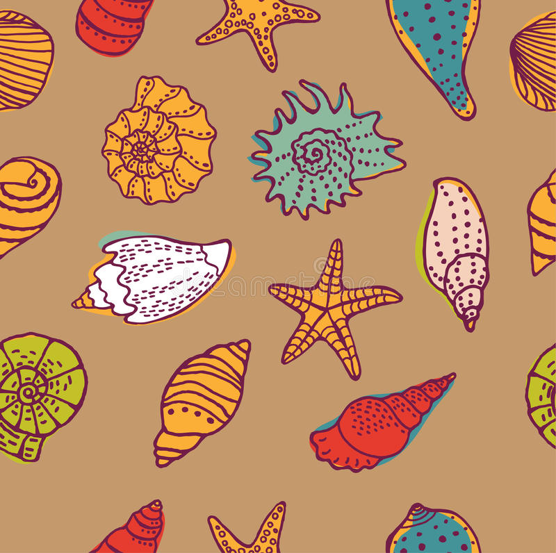 Sea seamless pattern. Vector illustration vector illustration