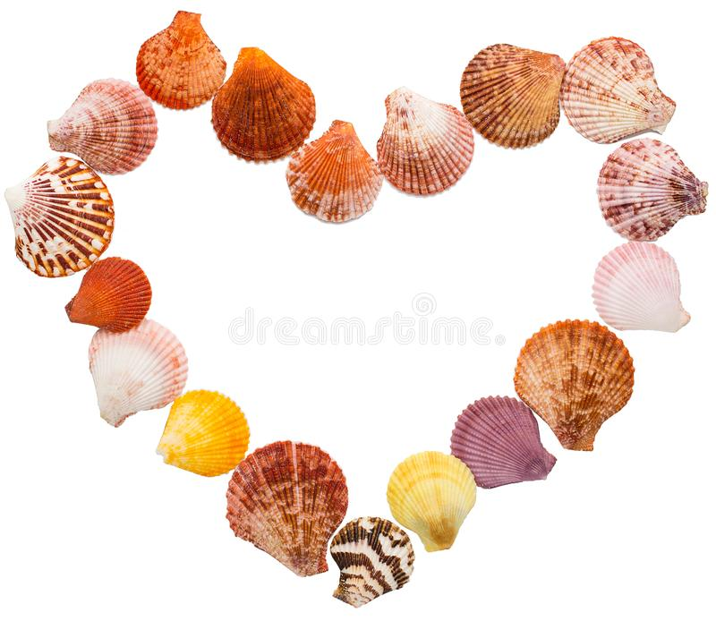 Wood Table Top On Blurred Beach Background Vintage Tone: Sea Shell Heart Shape Stock Image. Image Of Blank, Heart